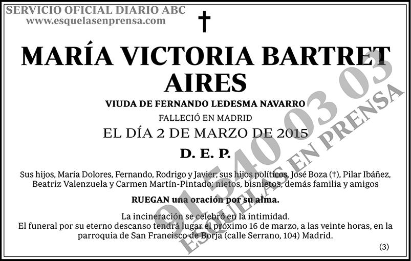 María Victoria Bartret Aires
